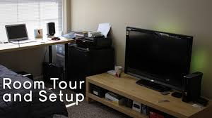 college tech office setup gaming setup room tour 2013 youtube
