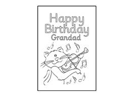 birthday card design template happy birthday grandad ichild