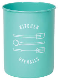 modern kitchen utensil holder amazon com now designs utensil crock turquoise kitchen u0026 dining