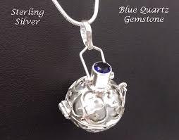 quartz gemstone necklace images Harmony ball necklace sterling silver blue quartz gemstone gif