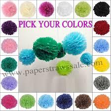 150pcs 8 20cm tissue paper pom poms wholesale free shipping