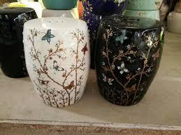 white black jingdezhen porcelain garden stool ceramic stool for