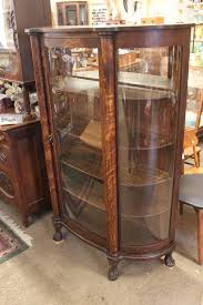 decoration collectible display cabinet with glass door white
