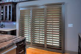 Bypass Shutters For Patio Doors Sliding U0026 French Doors Rockwood Shutters Blinds And Draperies