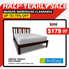 Clearance Bed Frames Bedworks Half Year Warehouse Clearance Sale 2016