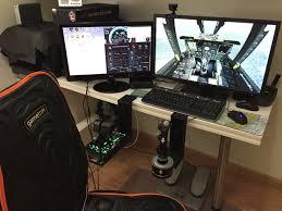 tech computer desk hotas joystick table mount monster tech