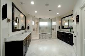Bathroom With Two Vanities Master Bath Walk Through Shower U0026 Separate Vanities