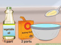 What To Use To Clean Greasy Kitchen Cabinets 3 Ways To Clean Greasy Kitchen Cabinets Wikihow