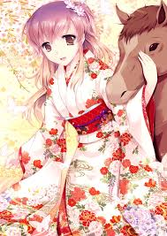 photo collection anime kimono dress