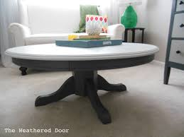 Pedestal Coffee Table Round Painted Pedestal Coffee Table The Weathered Door