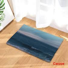 tapis sol cuisine bienvenue tapis de sol plage thème impression flanelle entrée