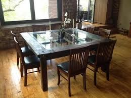 table with glass doors dining tables with glass and wood table pertaining to inspirations 7