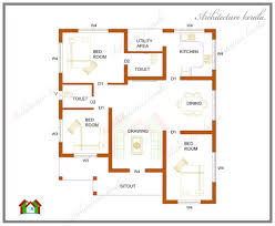 2 Bhk House Plan House Plans 2 Bedroom House Plans Kerala Style Cottage Home