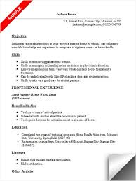 Sample Resume For Cna With Objective by Hha Resume Uxhandy Com