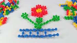 building blocks toys for children make sunflower by building