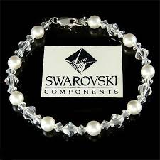 pearl sterling silver bracelet images Everyday simple swarovski pearl and swarovski crystal bridal jpg
