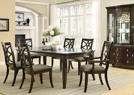 Dining Room End Chairs Moreno Valley Furniture Espresso Dining Table W 4 Side Chairs U0026 2