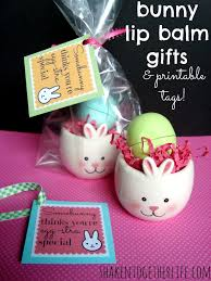 bunny lip balm gifts for easter u0026 printable tags