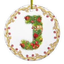 letter j monogram ornaments keepsake ornaments zazzle