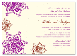 wedding invitations indian unique wedding invitations on seeded paper indian flowers by