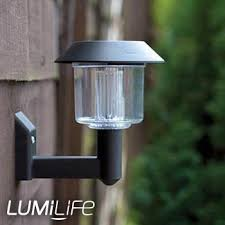 Solar Powered Wall Lights Uk - classic lumilife solar powered wall light lantern from led hut