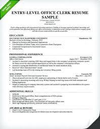 resume college resume format entry level office clerk sample