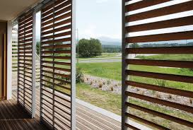 sliding shutters loggia renson sun protection