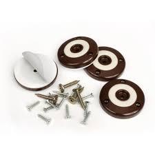 Furniture Rubber Floor Protectors by Slipstick 2 In Round Chocolate Brown Furniture Feet Floor