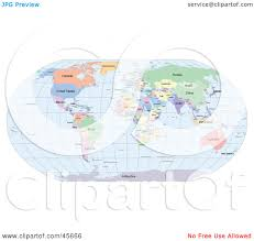 Greenland World Map by Royalty Free Rf Clipart Illustration Of A Political World Map