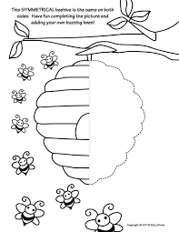 sea creatures symmetry activity coloring pages symmetry