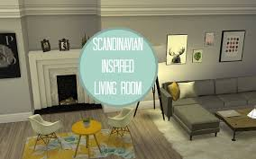 the sims 4 speed build ll scandinavian living room youtube