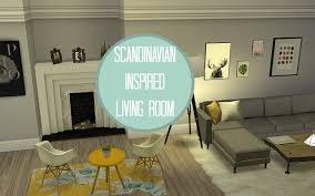scandinavian livingroom the sims 4 speed build ll scandinavian living room youtube