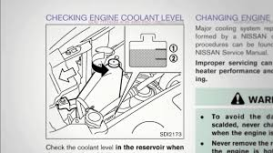 nissan altima 2015 service manual 2015 nissan rogue fluid check point youtube
