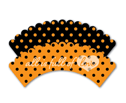 halloween cupcake display halloween cupcake wrappers printable polka dots liners orange