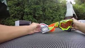 100 percent motocross goggles 100 racecraft mx goggles unboxing youtube