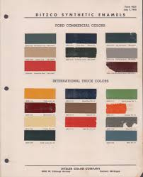 paint chips 1940 ford truck