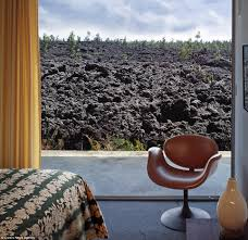spectacular homes build on hawaiian lavaflow daily mail online