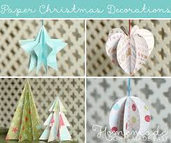Home Made Decorations For Christmas Paper Christmas Decorations