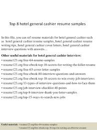 Sample Of Cashier Resume by Top 8 Hotel General Cashier Resume Samples 1 638 Jpg Cb U003d1437639059