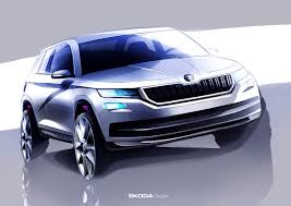 2017 skoda kodiaq teased once again official sketches show great