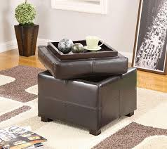 storage cube ottoman leather foot stool furniture coffee table