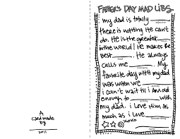 father u0027s day madlibs card download stephanie corfee