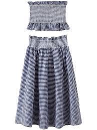 knee length skirt marissa navy blue gingham knee length skirt co ords goodnight