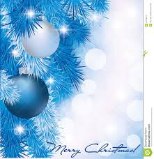 card with blue silver balls stock vector image 27159072