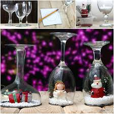 wine glass snow globes cool creativity