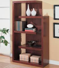 coaster contemporary asymmetrical bookcase 800256