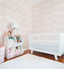 Pink Wallpaper For Walls by A Pink Bunny Nursery With Target U0026 Emily Henderson Green Wedding
