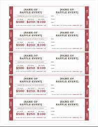 raffle tickets raffle tickets office templates