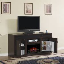 endzone electric fireplace entertainment center in espresso