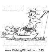 royalty free lineart stock fishing designs